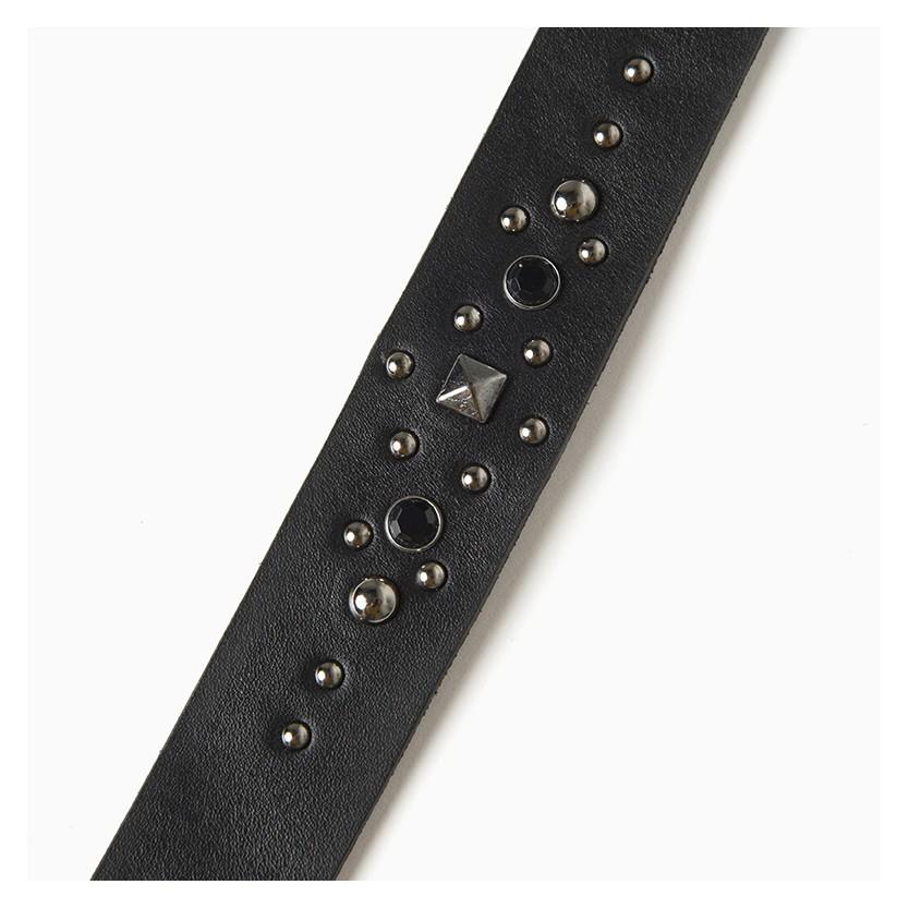 cinturón brillante circle negro