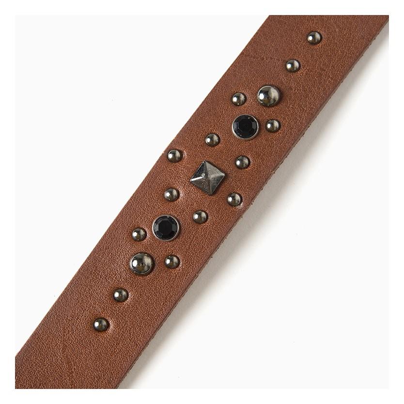 cinturón brillante circle marrón