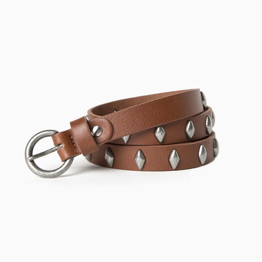 cinturón diamond marrón