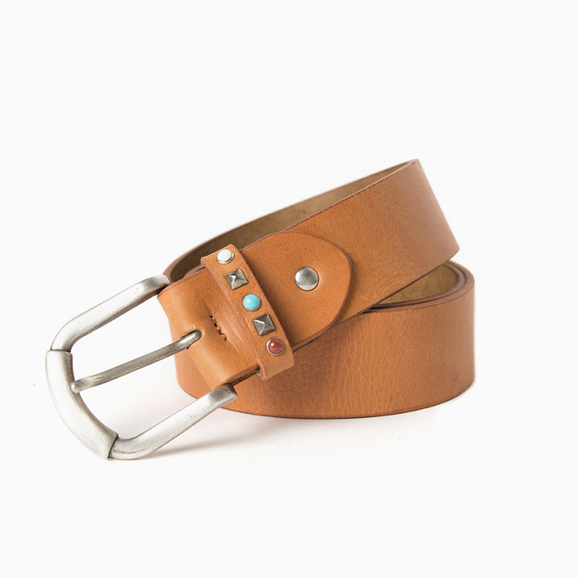 cinturón turquoise avellana