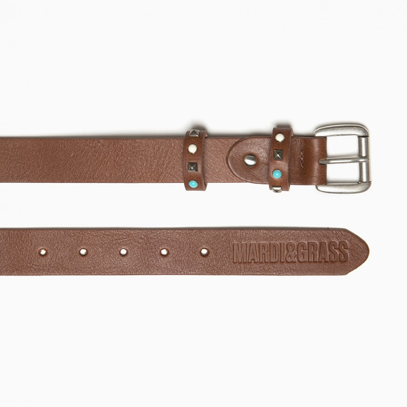 cinturón turquoise twice marrón