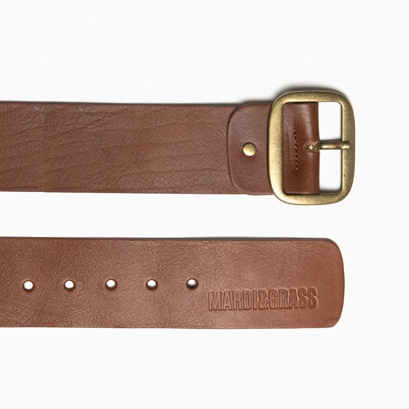 cinturón ancho straight marrón
