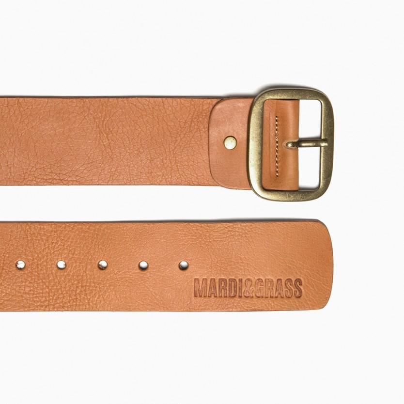 cinturón ancho straight avellana