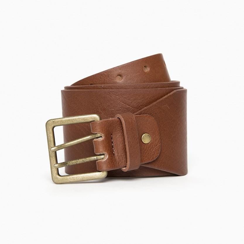 cinturón ancho curve marrón